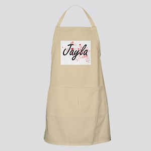 Jayla Artistic Name Design with Hearts Apron