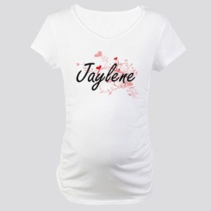 Jaylene Artistic Name Design wit Maternity T-Shirt