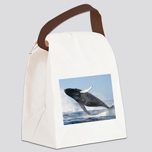 Humpback Whale Jumping High Canvas Lunch Bag