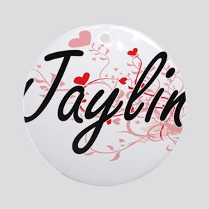 Jaylin Artistic Name Design with Ornament (Round)
