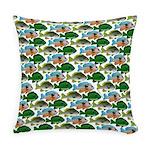 School of Sunfish fish Everyday Pillow