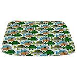 School of Sunfish fish Bathmat