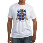 Chesnes Family Crest Fitted T-Shirt