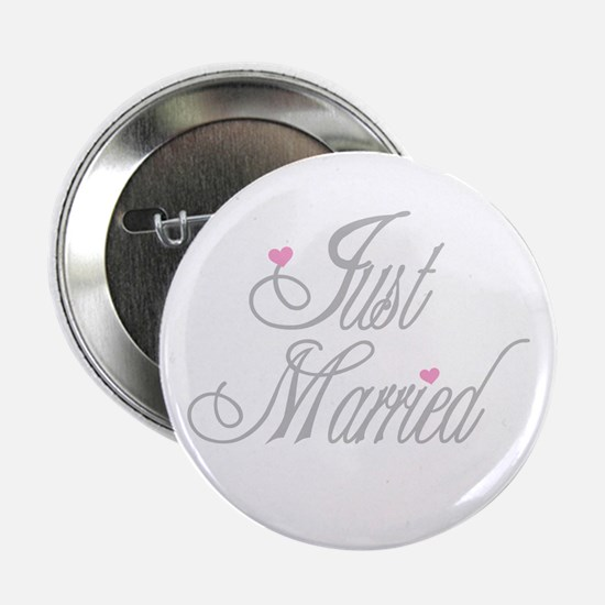 Classy Grays Just Married Button