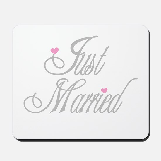Classy Grays Just Married Mousepad