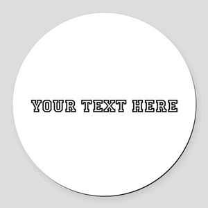 Personalised Template Round Car Magnet