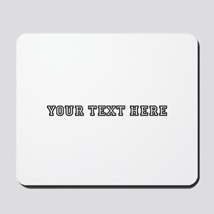 Personalised Template Mousepad