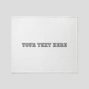 Personalised Template Throw Blanket