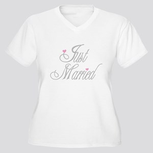 Classy Grays Just Married Women's Plus Size V-Neck