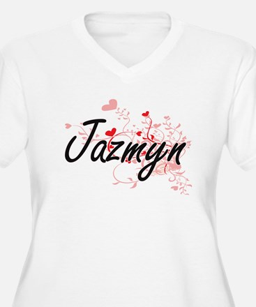 Jazmyn Artistic Name Design with Plus Size T-Shirt