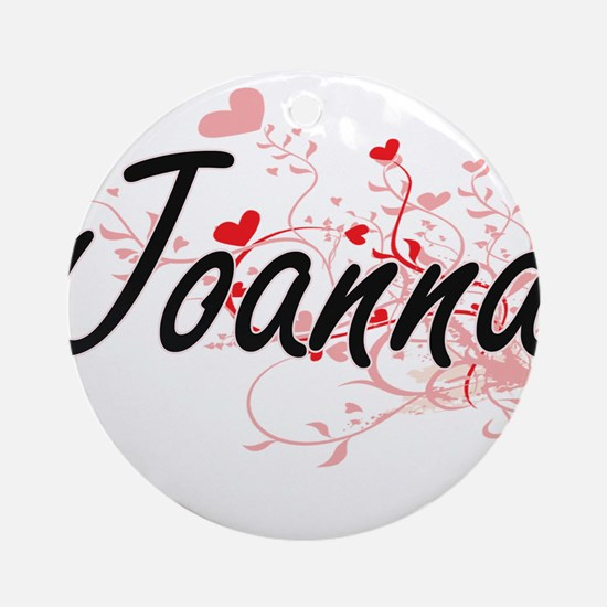 Joanna Artistic Name Design with Ornament (Round)