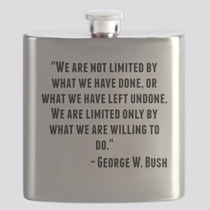 George W. Bush Quote Flask