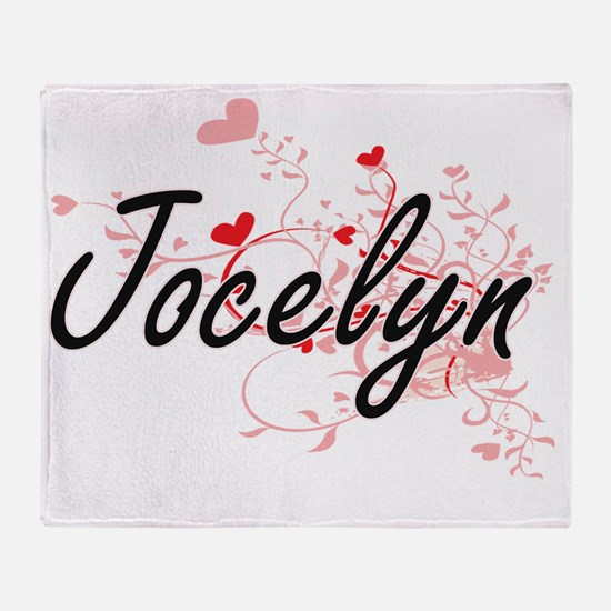 Jocelyn Artistic Name Design with He Throw Blanket