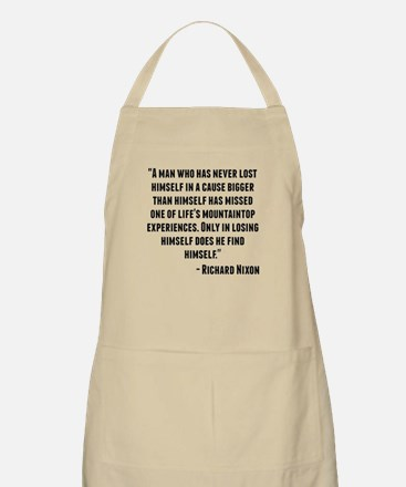 Richard Nixon Quote Apron