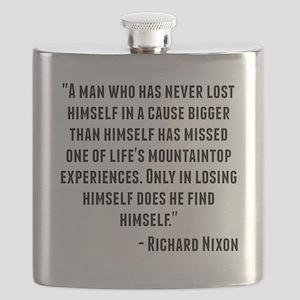 Richard Nixon Quote Flask
