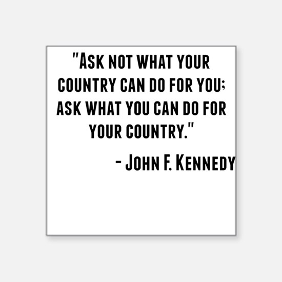John F. Kennedy Quote Sticker