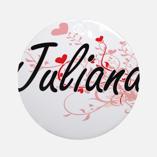 Juliana Artistic Name Design with Ornament (Round)
