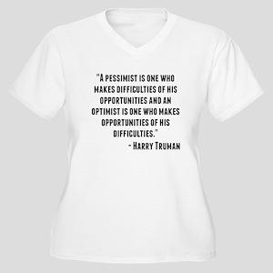 Harry Truman Quote Plus Size T-Shirt