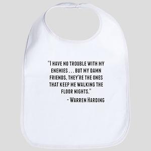 Warren Harding Quote Bib