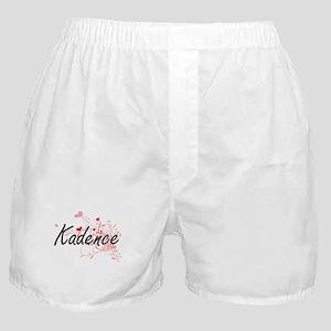 Kadence Artistic Name Design with Hea Boxer Shorts