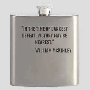 William McKinley Quote Flask