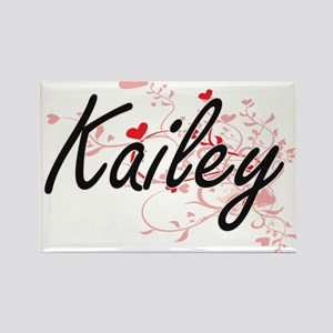 Kailey Artistic Name Design with Hearts Magnets