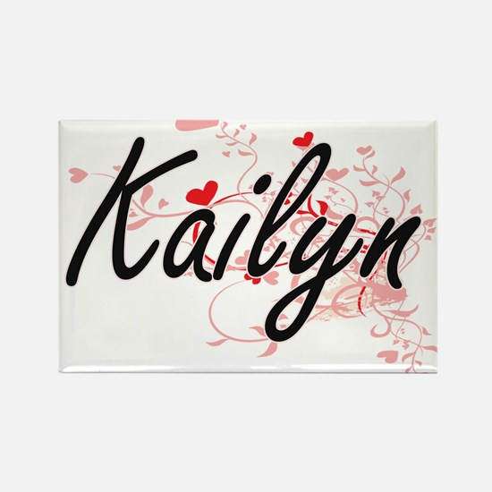 Kailyn Artistic Name Design with Hearts Magnets