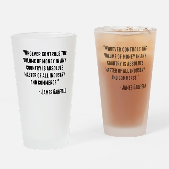 James Garfield Quote Drinking Glass