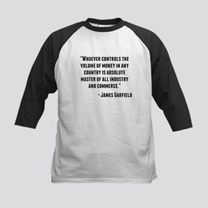 James Garfield Quote Baseball Jersey