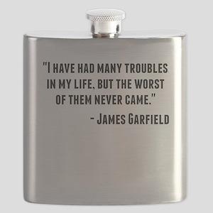James Garfield Quote Flask