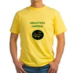 abduction t-shirts Yellow T-Shirt