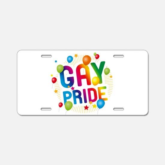 Gay Pride Celebration Aluminum License Plate