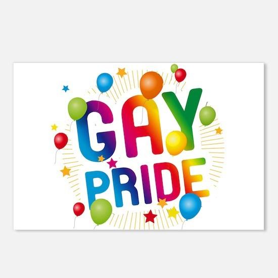 Gay Pride Celebration Postcards (Package of 8)