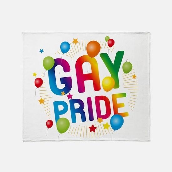 Gay Pride Celebration Throw Blanket