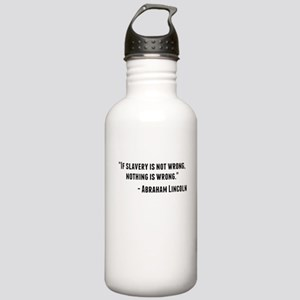 Abraham Lincoln Quote Water Bottle