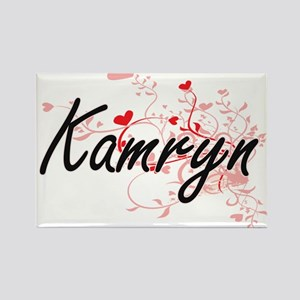 Kamryn Artistic Name Design with Hearts Magnets