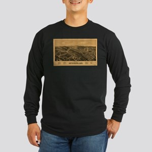 Vintage Pictorial Map of Hot S Long Sleeve T-Shirt