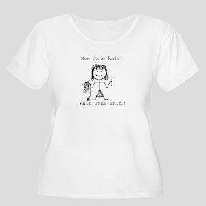 SEE JANE KNIT Plus Size T-Shirt