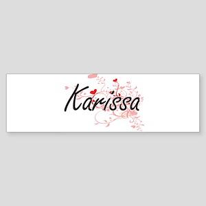 Karissa Artistic Name Design with H Bumper Sticker