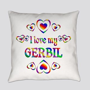 I Love My Gerbil Everyday Pillow