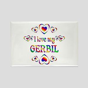 I Love My Gerbil Rectangle Magnet