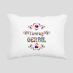 I Love My Gerbil Rectangular Canvas Pillow