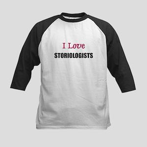 I Love STORIOLOGISTS Kids Baseball Jersey