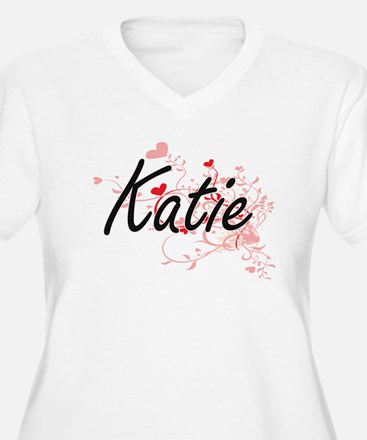 Katie Artistic Name Design with Plus Size T-Shirt