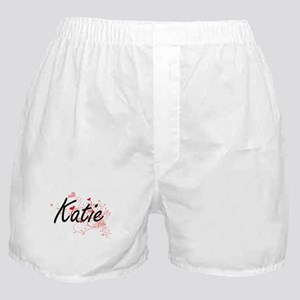 Katie Artistic Name Design with Heart Boxer Shorts