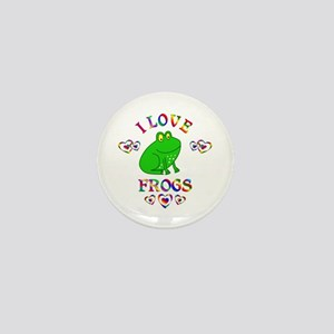 I Love Frogs Mini Button
