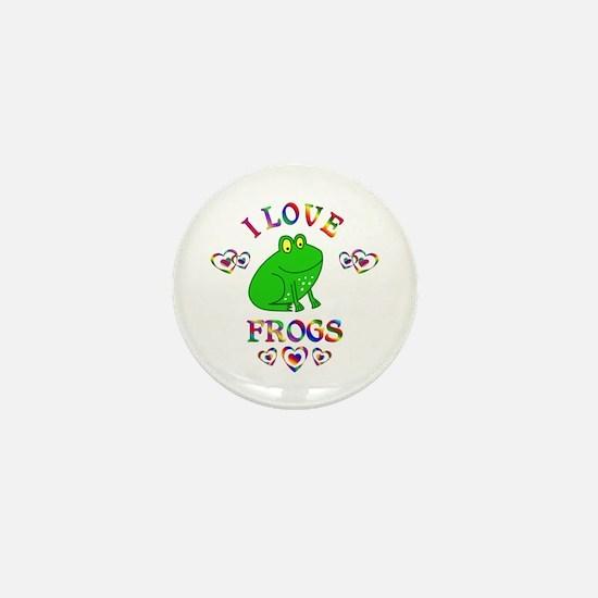 I Love Frogs Mini Button