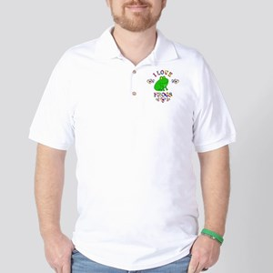 I Love Frogs Golf Shirt
