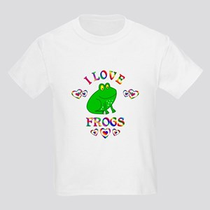 I Love Frogs Kids Light T-Shirt