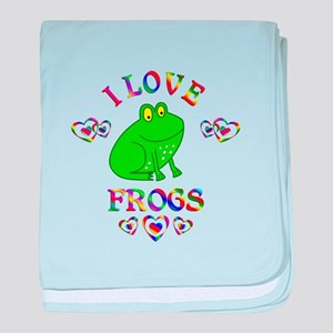 I Love Frogs baby blanket